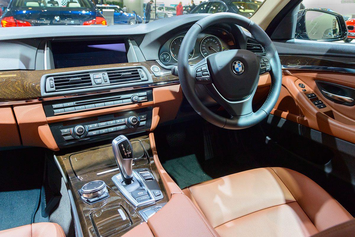 Inside front of car