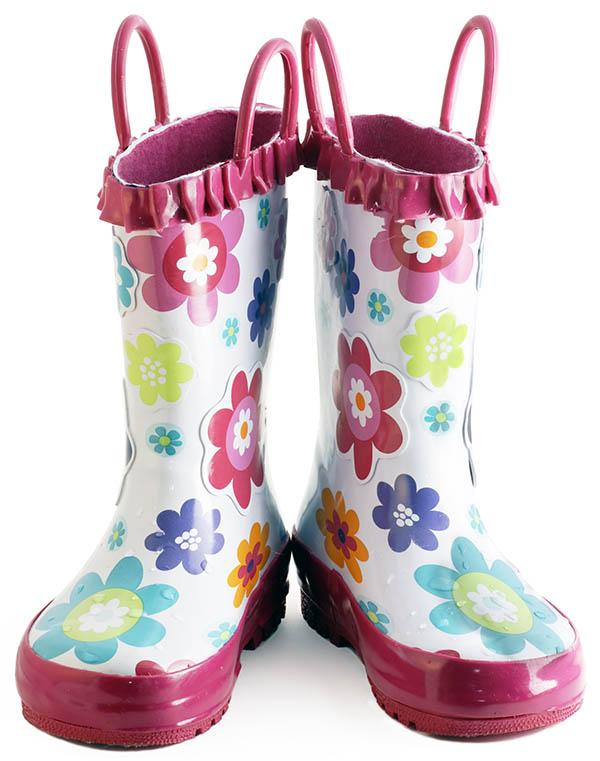 Little girl wellington boots