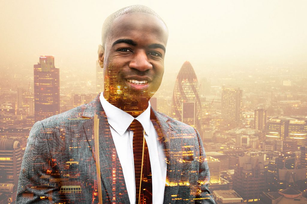 Man and city