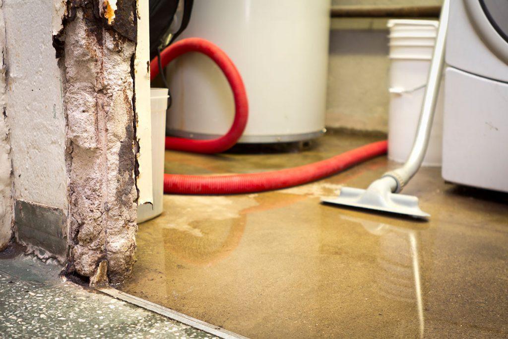 Damaged floor in house
